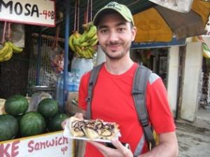 Banana chocolate roti