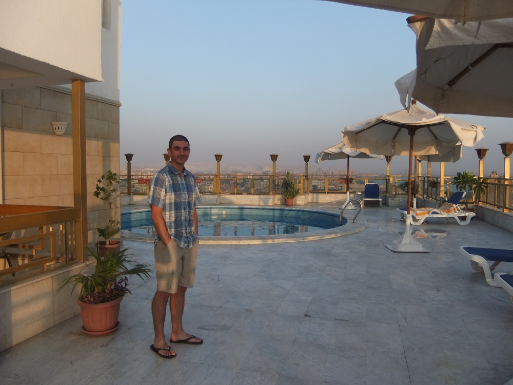 Pool on our hotel rooftop