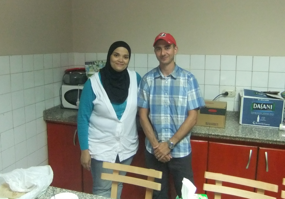 Me and my cooking instructor, Amira