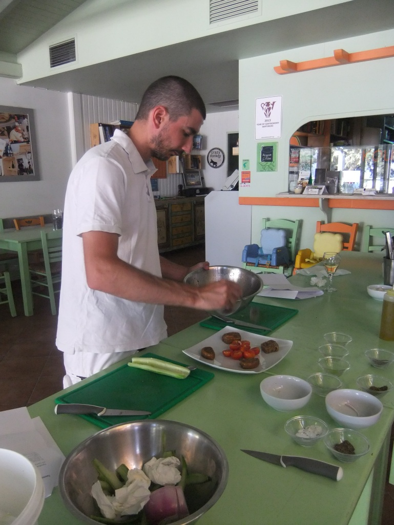 Plating the Santorini Salad