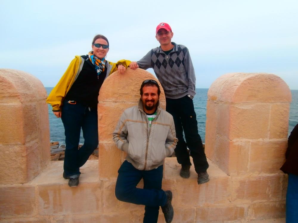 posing at Qaitbay Citadel