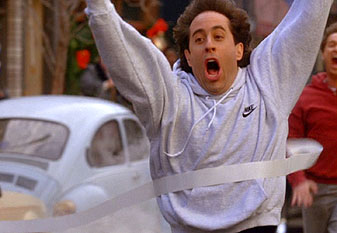 Image result for seinfeld crossing finish line